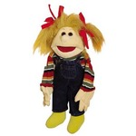 a medium figurative puppet - Maja. Ideal for use by children as she is smaller, designed for smaller hands
