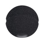 Black 40mm ball microphone foam windshield with an internal opening of 10 x 30mm