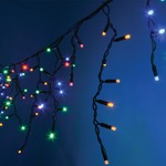 300 Multicolour Heavy Duty Outdoor LED Icicle String Lights. These high quality LEDs have a long lifespan and are energy efficient making them ideal for decorating homes, shops etc.