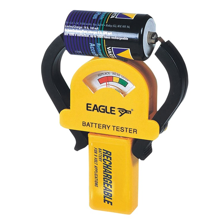 Battery Testing Equipment : Eagle compact battery tester for most dry cell batteries
